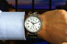 Beautiful Large MINERVA Monopusher Chronograph Elegant White Dial Marriage Watch