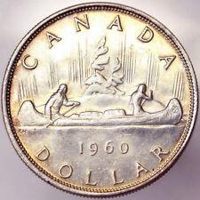 1 DOLLAR 1960 ELIZABETH II CANOA VOYAGEUR CANADA Ag #1031A