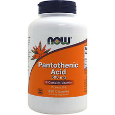 Pantothenic Acid (Vitamin B-5), 500 mg, 250 Capsules