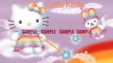 Hello Kitty Fairy Tail Edible Birthday Cake Topper Frosting Icing 1/4 Sheet