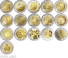 Luxembourg 2 euro 16 coins 2004 - 2014, UNC luxemburg letzebuerg Lussemburgo FDC
