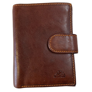 **SALE Tony Perotti Mens Italian Leather Coin Card Small Tab Wallet