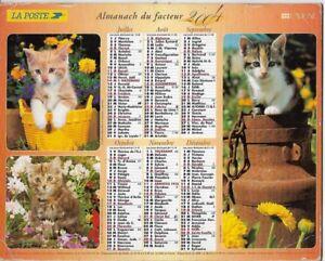Almanach 2004 Calendrier de la poste PTT - HAUTE-SAONE 70  & Ter. de BELFORT 90