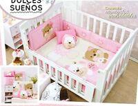 Sweet Dreams Pink Baby Girl 6 Piece Nursery Crib Bedding Set By Vianney