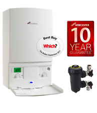 SUPPLY & FITTED Worcester Bosch Combi Boiler +Filter +Wireless thermost +Flush