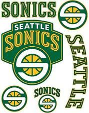 Seattle Sonics Supersonics Scrapbooking Craft Sticker Sheet Set #1