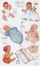 """2659 Vintage Baby Doll Clothes Pattern - Size 8"""" - Year 1948"""