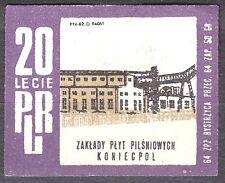 POLAND 1964 Matchbox Label - Cat.Z#549I, 20th PRL - Fountain Plates, Koniecpol.