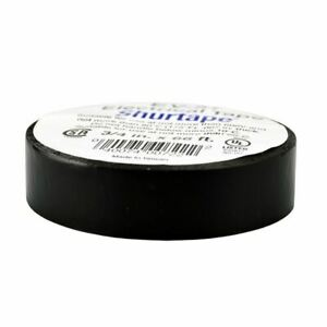 "Shurtape Black Electrical Tape - UL Listed, 7 mil, 3/4"" x 22 Yds (66 Feet) Roll"