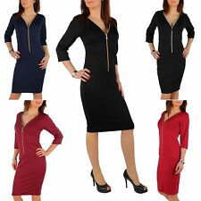 V Neck 3/4 Sleeve Wiggle, Pencil Dresses for Women