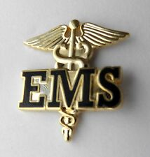 EMS EMERGENCY MEDICAL SERVICES CADUCEUS PARAMEDIC GOLD COLOR LAPEL PIN 1 INCH