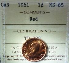 Canada Cent 1961  ICCS RED - HIGH GRADE