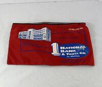 Vintage First National Bank & Trust Macon GA Money Bag