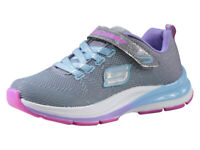 Skechers Little Girl's Double Strides Duo Dash Gray/Blue Sneakers Shoes Sz: 3