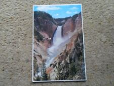 FIRST AD.POSTCARD.YELLOWSTONE PARK,WYOMING..POSTED 1989 36cSTAMP.
