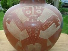 LARGE VINTAGE NICARAGUAN ? POTTERY UNKNOWN SCRATCH POTTERY THUNDER BIRD