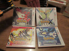 LOT NINTENDO 3DS POKEMON X & Y + ALPHA SAPPHIRE & OMEGA RUBY SET 4 GAMES AUTHENT