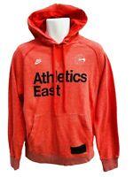 NEW NIKE Sportswear NSW Vintage Athletics East Cotton Fleece Hoodie Orange M