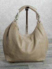 Ital. XL Shopper bolso señora bandolera de piel cuero Hell Taupe 602ht
