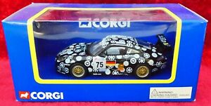 Corgi 1/43 Porsche 911 Race Car (Style A) Black #75  (TY91056)