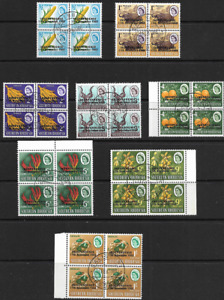 Southern Rhodesia 1966 QEII Independence Ovpts CTO Blocks of 4 Superb MNH
