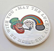 Gold & Silver Lucky Coin Ireland Luck Leprechaun Playing Cards Gambling Winner