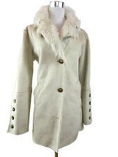 ANDREA MARE Italia Moda para Mujeres Sexy ante de imitación de piel de zorro abrigo chaqueta talla S 10 J60