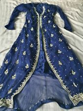 Bridal Blue Asian Pakistani Indian Dress Anarkali mehndi Lengah lengha Sari navy