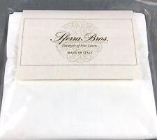 White KING Pair Pillowcases 100% LONG STAPLE Cotton Sateen 300TC Sferra