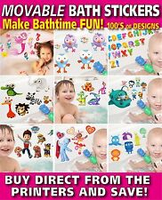 Bath Stickers TOTALLY MOVABLE Make Bath Time Fun, Paw Patrol, Dinosaurs and more