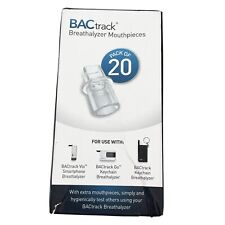 BACtrack Breathalyzer Mouthpieces - Pack of 20 NEW, FACTORY SEALED
