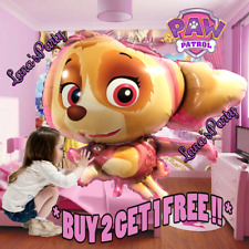 "New 35"" XL PAW PATROL SKYE BIRTHDAY PARTY BOY PUPPY DOG SUPPLY FOIL BALLOONS"