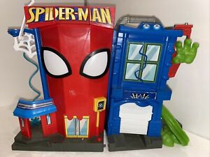 2011 Marvel Hasbro Playskool Spiderman Fold Out Playset with Sounds