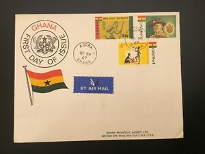ICOLLECTZONE Boy Scout Ghana 1967 FDC Cover (D100)
