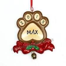 Dog Paw Personalized Christmas Tree Ornaments