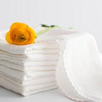 10Pc Baby Gauze Muslin Square Cotton Kids Soft Bath Wash Towel Baby Feeding Bibs
