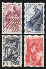 France 1949 MNH Mi 834-837 Sc B233-B236 Farmer,Fisherman,Miner,Metal worker **
