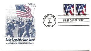 US Scott #4393, First Day Cover 5/8/09 Washington Pair Flag