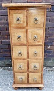 BEAUTIFUL QUALITY BAKER & STONEHOUSE FLAGSTONE TALL MULTI CHEST 10 DRAWERS