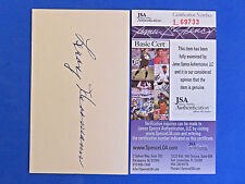 LEROY HERMANN SIGNED 3x5 INDEX CARD  JSA L69733 1932-35 CUBS, REDS - D 1972 RARE