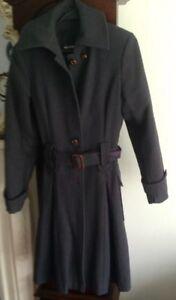 Women's Green Wool Coat .Size EU38