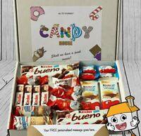 Personalised KINDER Bueno Treat Bar Hamper Sweet Box Present Birthday Chocolate