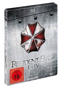 RESIDENT EVIL : QUADRILOGY I - IV  Blu ray Steelbook - 4 Movie Set - REG B