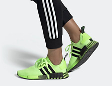 Adidas NMD R1 Running Shoes Signal Green Black FV3647 Men's Multi Sizes NEW
