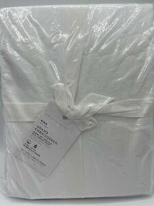 New Pottery Barn Grand Organic Cotton King Sheet Set ~Gray Mist~ Read