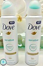 Dove Sensitive Skin Dry Antiperspirant Deodorant 150 Ml Spray (Pack Of 2)