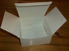 "White Candy Cookie or Gift Retail Boxes 5"" x 5"" x 2.5"" Folding Lid ~ Lot of 10"