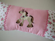 Cuddly Pillow, Washable, Allergy Horse, Name Pillow, Custom Name Embroidered