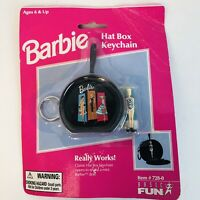 1999 Barbie Hat Box Keychain by Basic Fun, Licensed by Mattel Vintage New