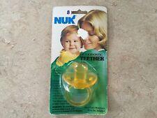 Vintage Gerber  NUK Orthodontic Teether Pacifier nipple Yellow Rare